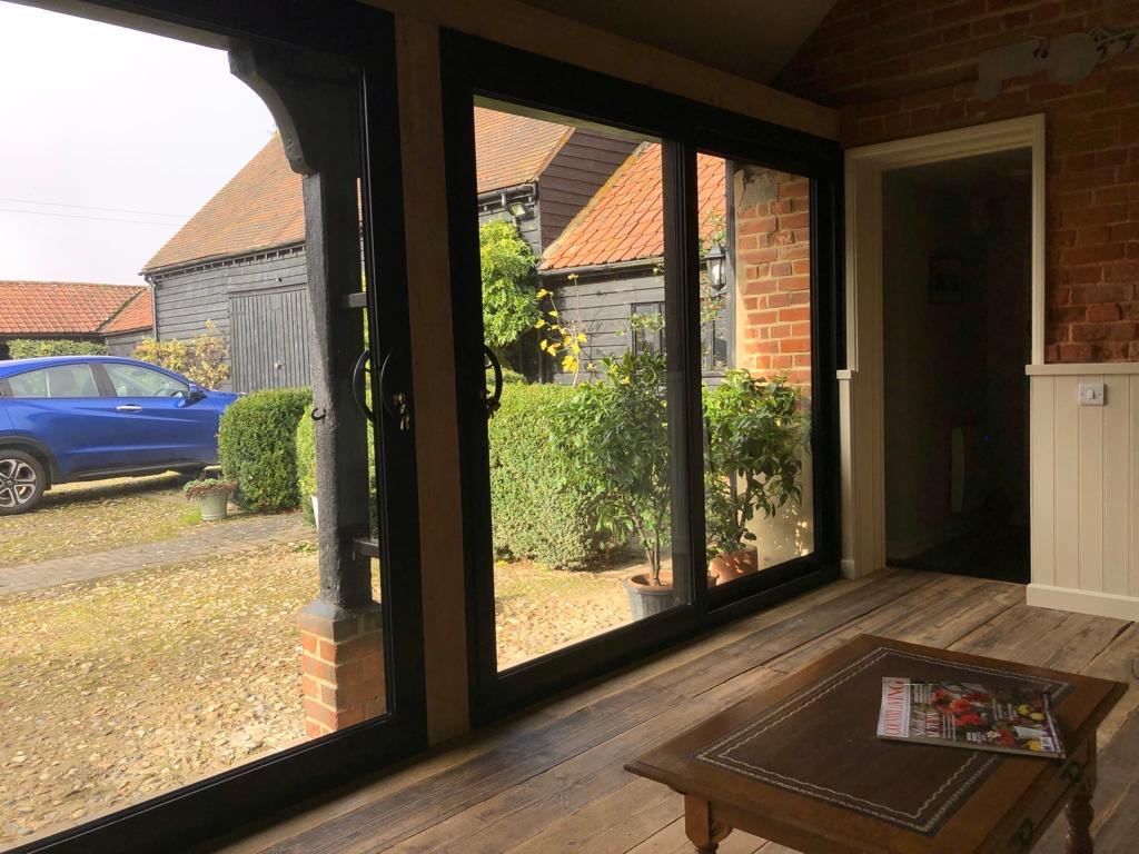 aluminium patio doors lindsell